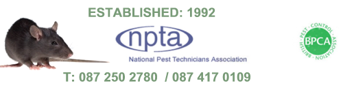 Bower Pest Control, Kilkenny, Ireland. Highly Qualified Pest Control to International Standards. Member of National Pest Technicians Association (NPTA) & BPCA Qualified, established 1992